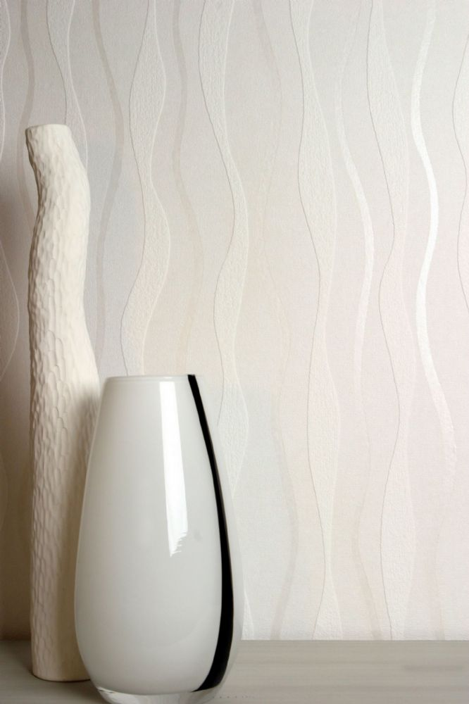 Arthouse Wave White 823105 Wallpaper